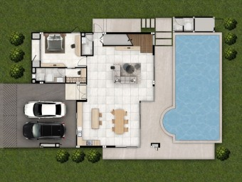 1 Floor Plan - Afton Villa | Plover Cove Luxury Villas