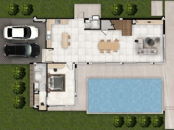 1 Floor Plan - Brooks Villa | Plover Cove Luxury Villas